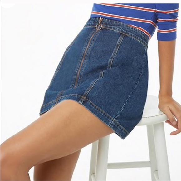 Denim - Zippered 70s Denim Skirt
